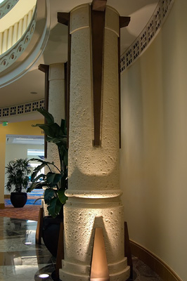 Coral Stone columns at the Atlantis Resort in the Bahamas
