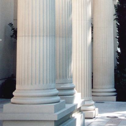 Terra cotta column bases.