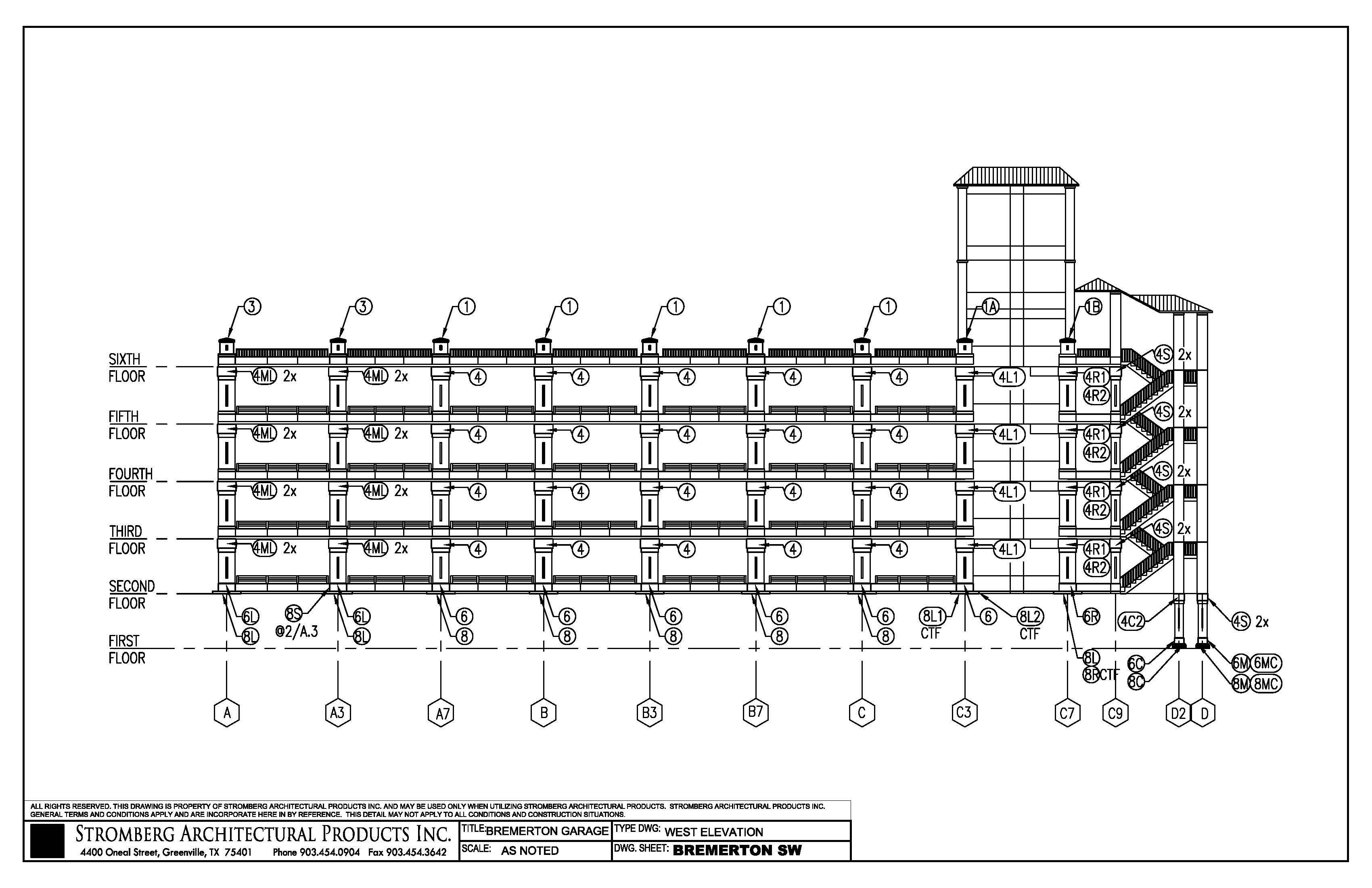 Garage Floor Elevation Code : Bremerton parking garage in wacad files