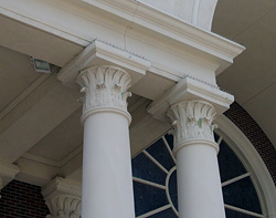 Greek Corinthian Columns at Custer United Methodist Church