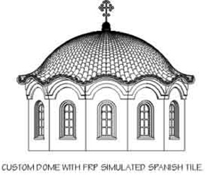 GFRP (Glass Fiber Reinforced Polymer) Domes by Stromberg